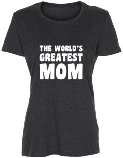 dame t-shirt mors dag the worlds greatest mom antracit