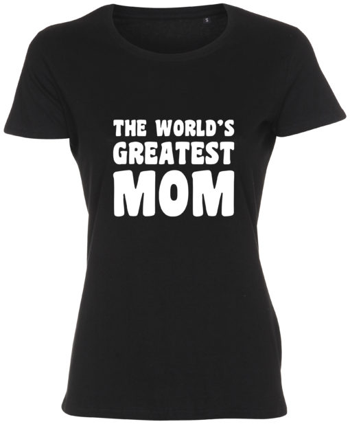 dame t-shirt mors dag the worlds greatest mom sort
