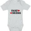 baby bodystocking fars dreng blaa