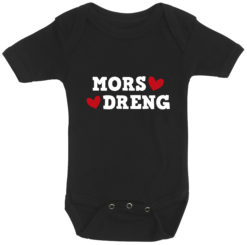 baby bodystocking mors dreng sort
