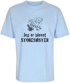 boerne t-shirt jeg er blevet storesoester blaa
