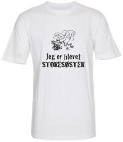 boerne t-shirt jeg er blevet storesoester hvid