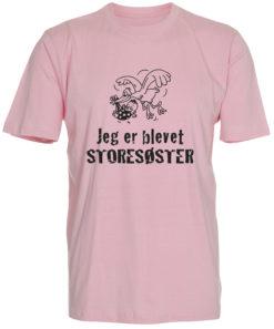 boerne t-shirt jeg er blevet storesoester lyseroed
