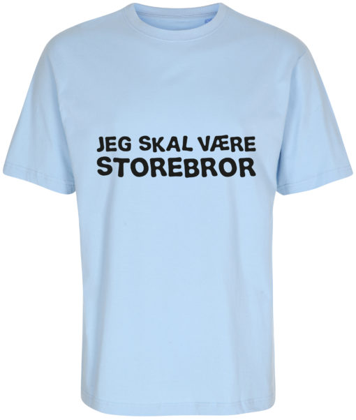 boerne t-shirt jeg skal vaere storebror blaa