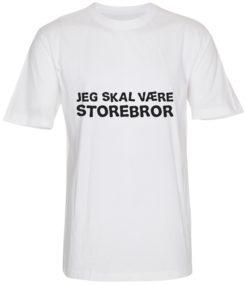 boerne t-shirt jeg skal vaere storebror hvid