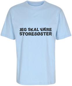 boerne t-shirt jeg skal vaere storesoester blaa