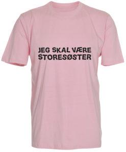 boerne t-shirt jeg skal vaere storesoester lyseroed