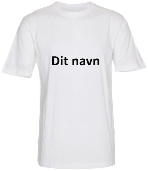 boerne t-shirt med dit navn calibri hvid