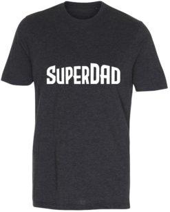 herre t-shirt superdad antracit