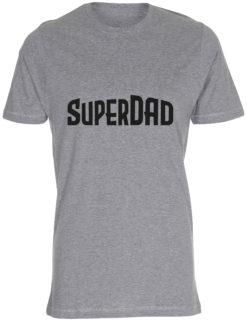 herre t-shirt superdad graa