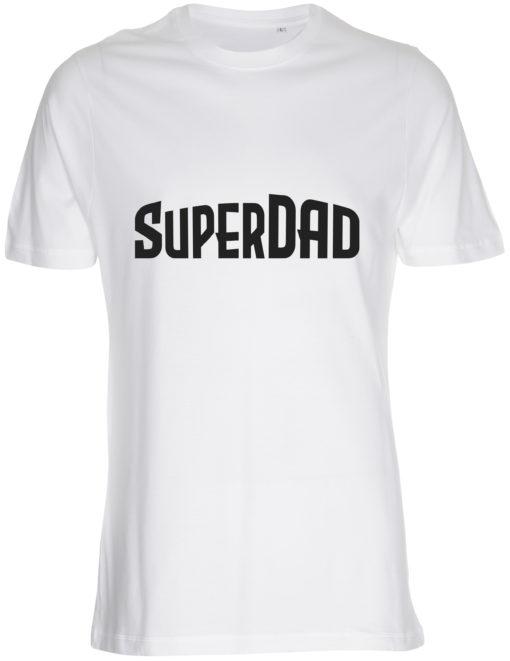 herre t-shirt superdad hvid