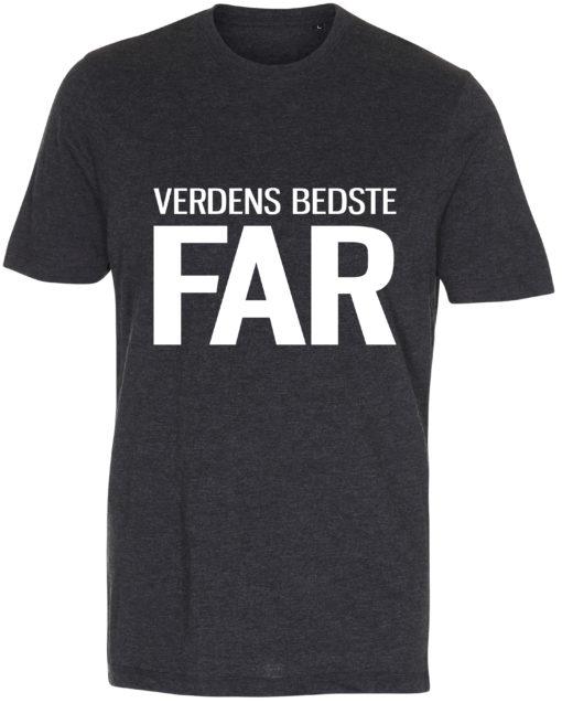 herre t-shirt verdens bedste far antracit