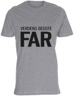 herre t-shirt verdens bedste far graa