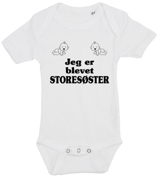 baby bodystocking jeg er blevet storesoester hvid