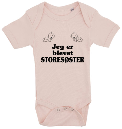 baby bodystocking jeg er blevet storesoester lyseroed
