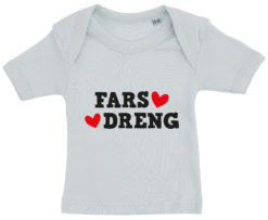 baby t-shirt fars dreng blaa