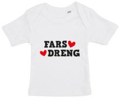 baby t-shirt fars dreng hvid