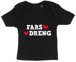 baby t-shirt fars dreng sort