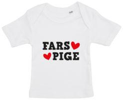 baby t-shirt fars pige hvid