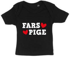 baby t-shirt fars pige sort