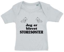 baby t-shirt jeg er blevet storesoester blaa