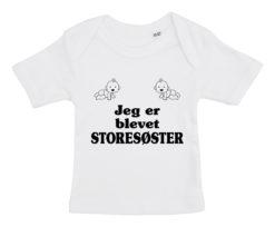 baby t-shirt jeg er blevet storesoester hvid