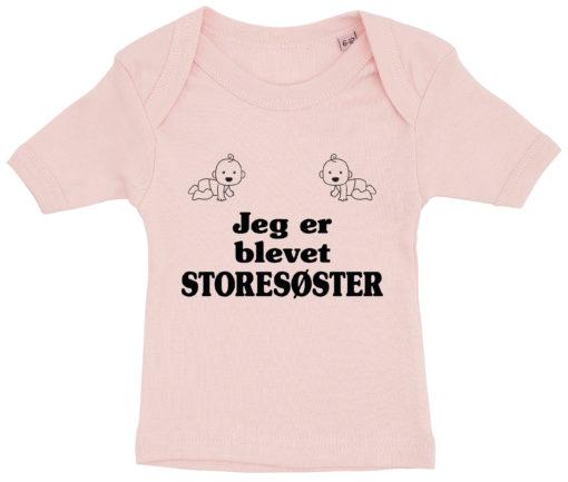 baby t-shirt jeg er blevet storesoester lyseroed