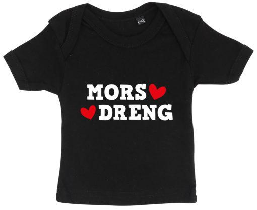 baby t-shirt mors dreng sort