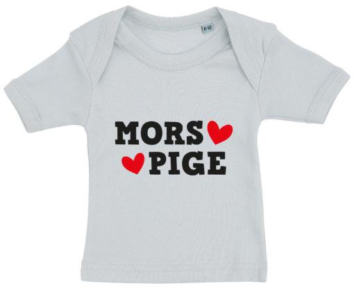baby t-shirt mors pige blaa