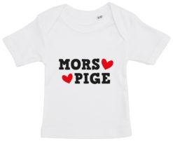 baby t-shirt mors pige hvid