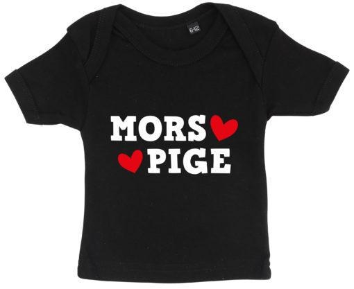 baby t-shirt mors pige sort