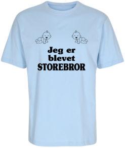 boerne t-shirt jeg er blevet storebror blaa