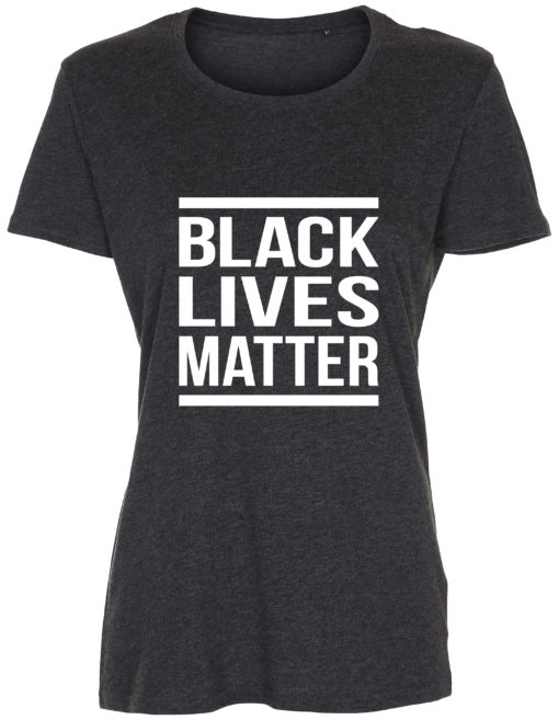 dame t-shirt black lives matter antracit