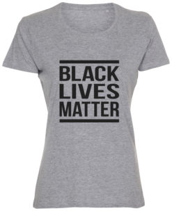 dame t-shirt black lives matter graa