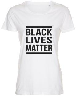 dame t-shirt black lives matter hvid