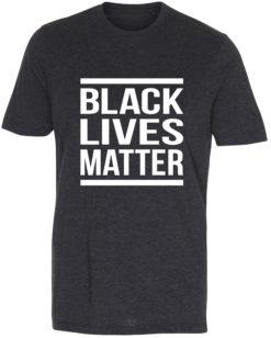 herre t-shirt black lives matter antracit