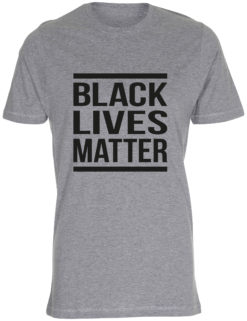 herre t-shirt black lives matter graa