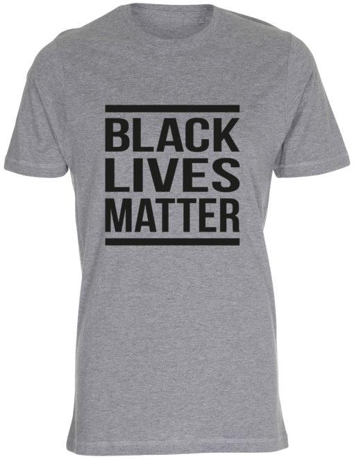 herre t-shirt black lives matter graa