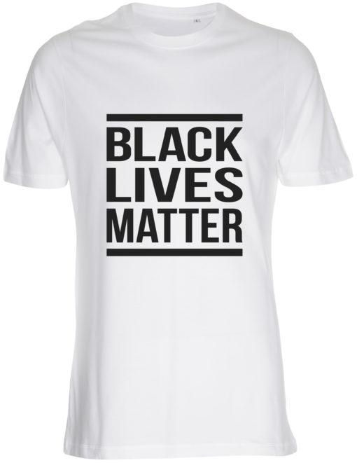 herre t-shirt black lives matter hvid