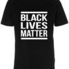 herre t-shirt black lives matter sort