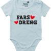 oekologisk baby bodystocking fars dreng blaa