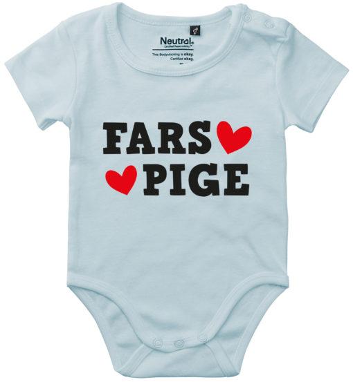oekologisk baby bodystocking fars pige blaa