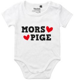 oekologisk baby bodystocking mors pige hvid