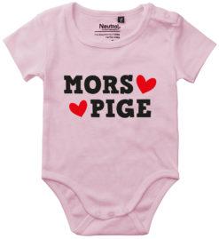 oekologisk baby bodystocking mors pige lyseroed