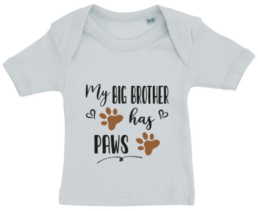 baby t-shirt my big brother has paws blaa
