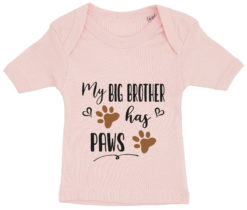 baby t-shirt my big brother has paws lyseroed