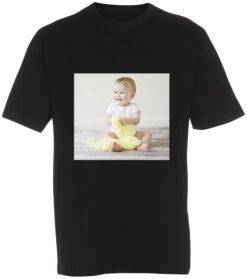 boerne t-shirt med dit billede firkant sort