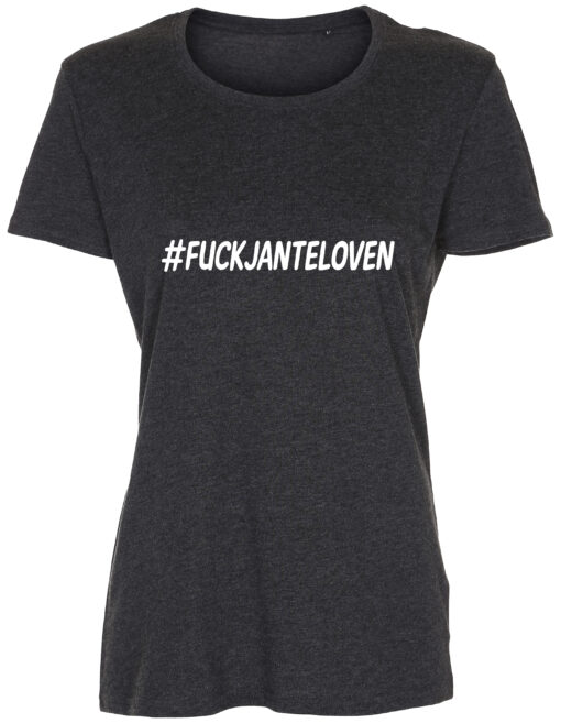 dame t-shirt fuck janteloven antracit