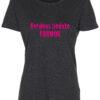 dame t-shirt verdens bedste farmor pink skrift antracit