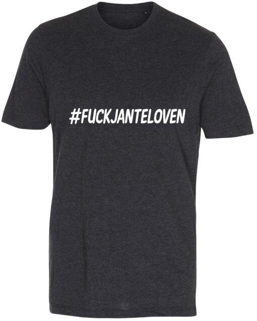 herre t-shirt fuck janteloven antracit